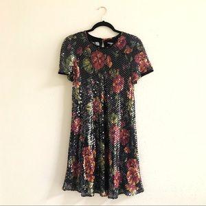 Floral Sequin Liz Claiborne Dress 🌺